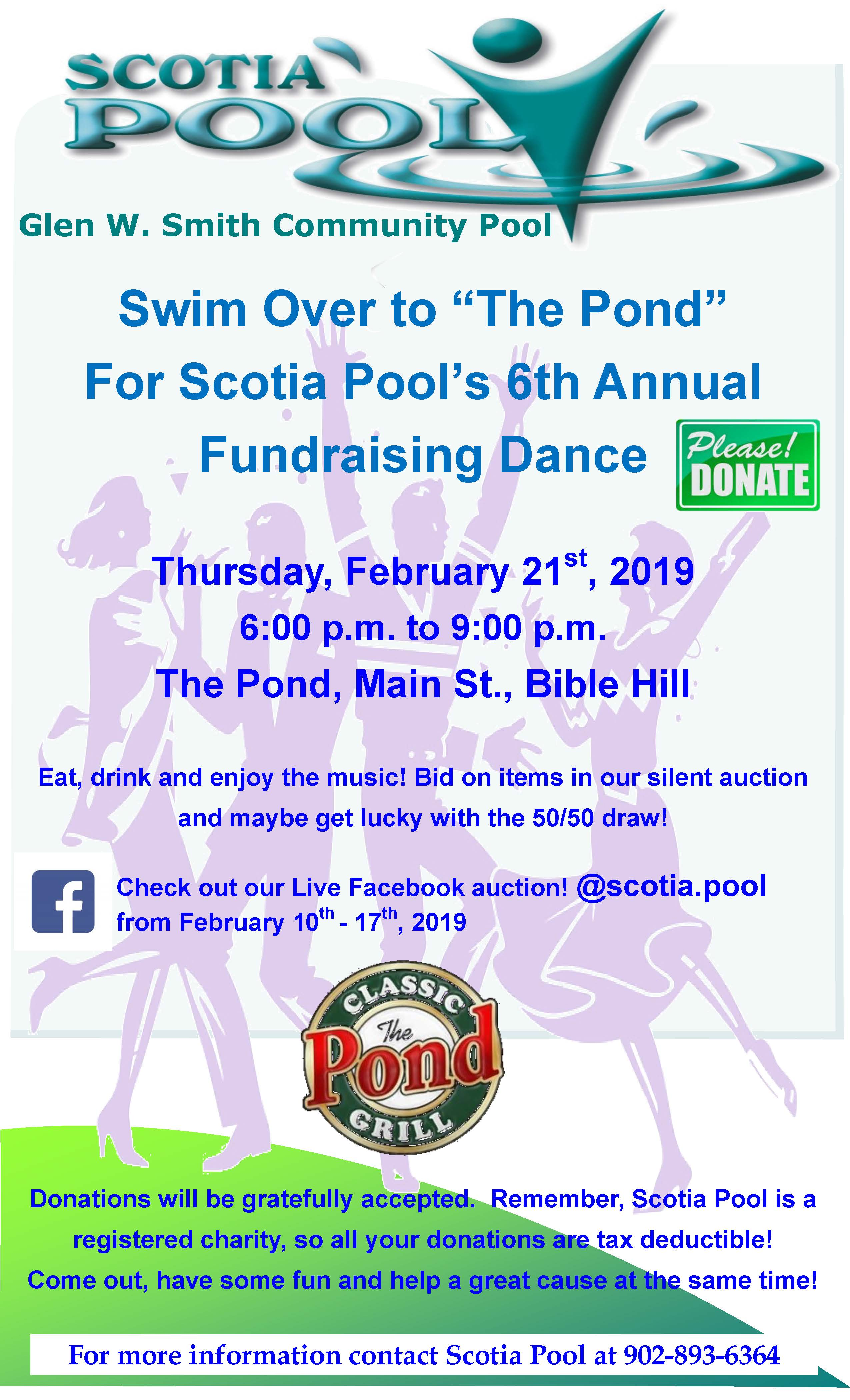 Scotia Pool Fundraising Poster 2019