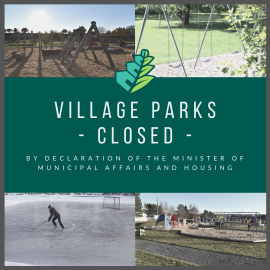 Village Parks Closed - Effective 12pm, Sunday, March 22
