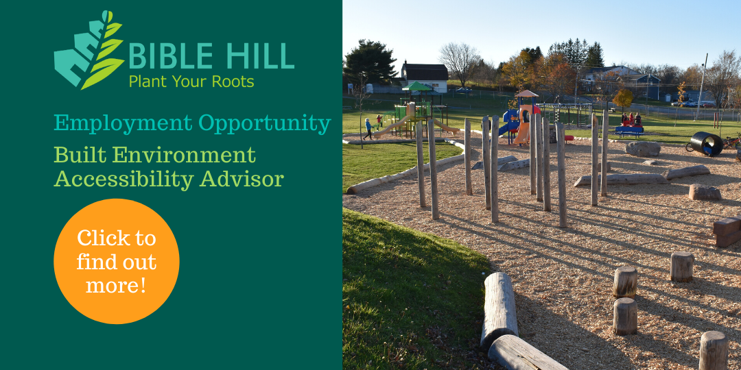 Village of Bible Hill logo and a playground